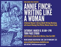 ANNIE FINCH: WRITING LIKE A WOMAN