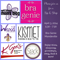 Sip and Shop at Bra Genie