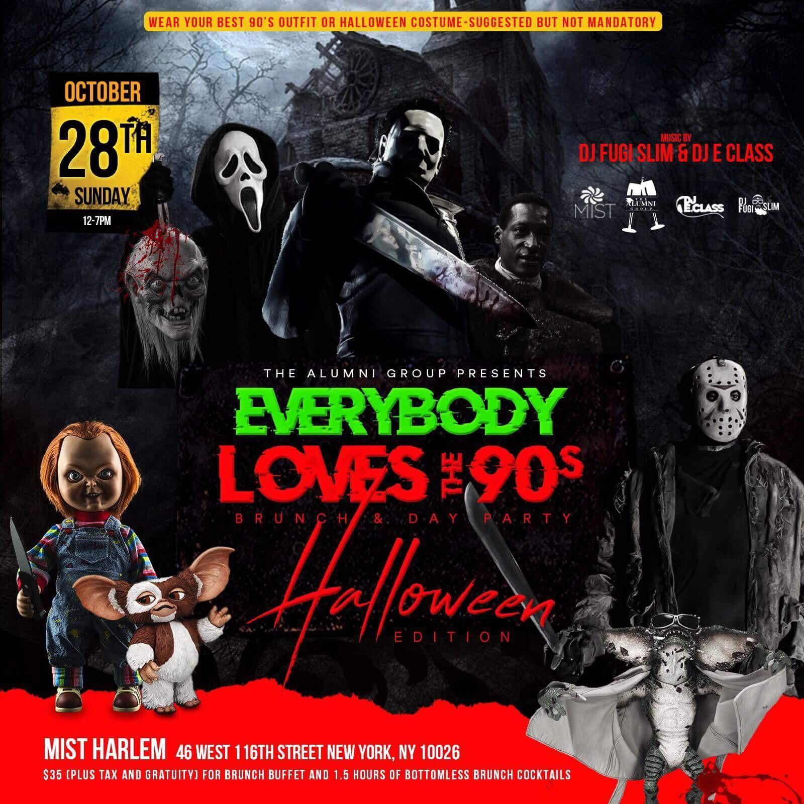 Everybody Loves The 90's Brunch & Day Party - Halloween Edition