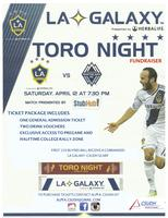 LA Galaxy Toro Night Fundraiser