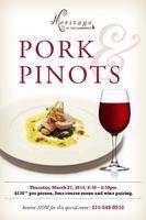 Pork & Pinots Dinner