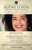 Audre Lorde: A Burst of Light Symposium- A 12th NBWC...
