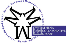 Montclair March Mathness and the Athena Collaborative Group logo