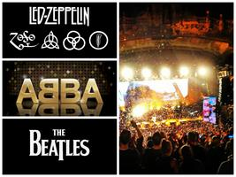 Led Zeppilin ABBA The Beatles, 3 in 1 tribute.