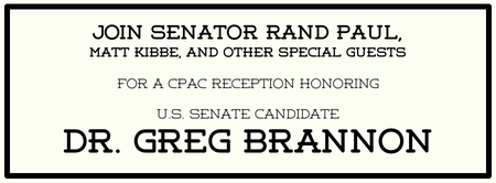 CPAC Reception Honoring Dr. Greg Brannon