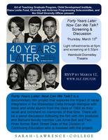 """Forty Years Later: Now Can We Talk?"": Film Screening..."