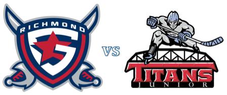 Richmond Generals MJHL Round One Playoffs -  Game 1