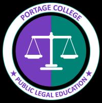 Portage College Public Legal Education logo