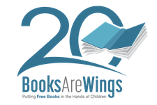 Books Are Wings (BAW) logo