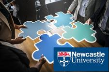 Newcastle University, Humanities & Social Sciences, ESRC IAA Business Boost logo