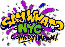 Say What? NYC Comedy Improv logo