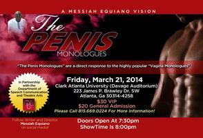 "Messiah Equiano's ""The Penis Monologues"" in Atlanta!"