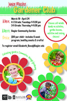 Junior Master Gardener Club 3-5 Grade