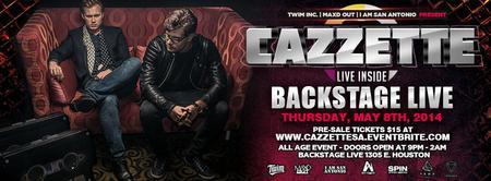 Cazzette Live at Backstage Live