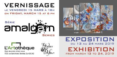 Exposition AMALGAM Exhibition | Vernissage peintures contemporaines