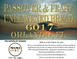 PASSOVER AND FEAST OF UNLEAVENED BREAD 6017