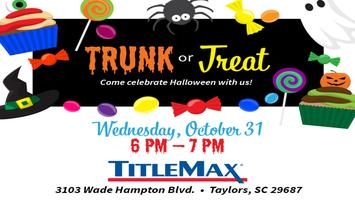 Trunk or Treat at TitleMax Taylors, SC