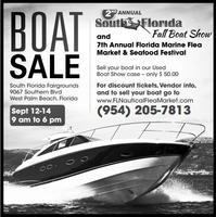 **This Weekend** Fall Boat Show South and Florida...