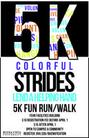 Colorful Strides: Lend a Helpful Hand 5K Fun Run/ Walk