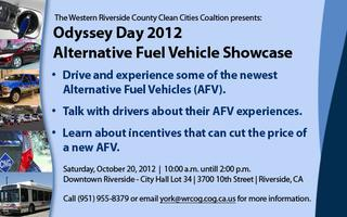Western Riverside Odyssey Day Alternative Fuel Vehicle Expo