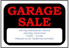 MCRA Garage Sale