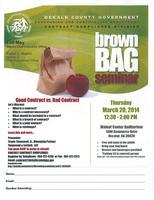 Dekalb County March 20, 2014 Brown Bag Seminar