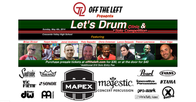 """Let's Drum"" Clinic and Solo Competition"