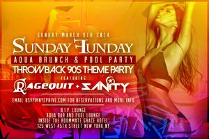 Sunday Funday Indoor Pool Party at Aqualounge