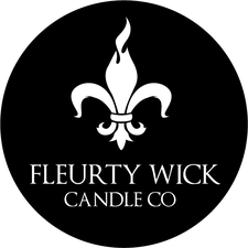 Fleurty Wick Boutique Candle Co  logo