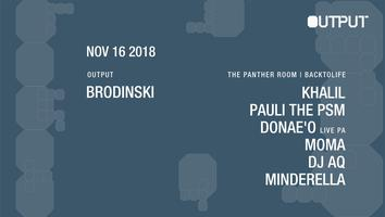 Brodinski at Output and Backtolife in The Panther Room