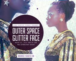 WORN Fashion Journal presents: Outer Space Glitter Face