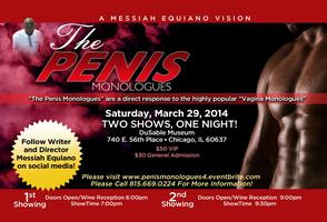 "Messiah Equiano's ""The Penis Monologues"" In Chicago!"
