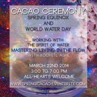 Spring Equinox and Word Water Day- Cacao Ceremony for...