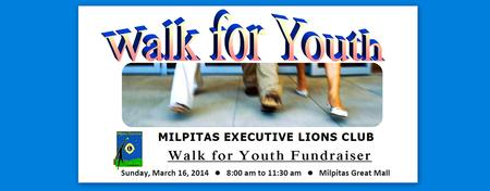 WALK FOR YOUTH FUNDRAISER