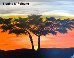 Sip n' Paint African Sunset Thursday, July 31st, 6:00pm