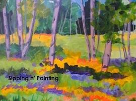 Sip n' Paint Colorado Wildflowers Friday, July 25th,...
