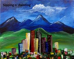 Sip n' Paint Denver Skyline Saturday, June 28th, 7:30pm