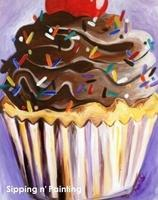Sip n' Paint Cupcake Wednesday, July 16th, 6:00pm