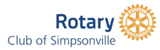 Rotary Club of Simpsonville logo