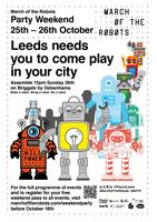 March of the Robots End event on Briggate (Sunday)