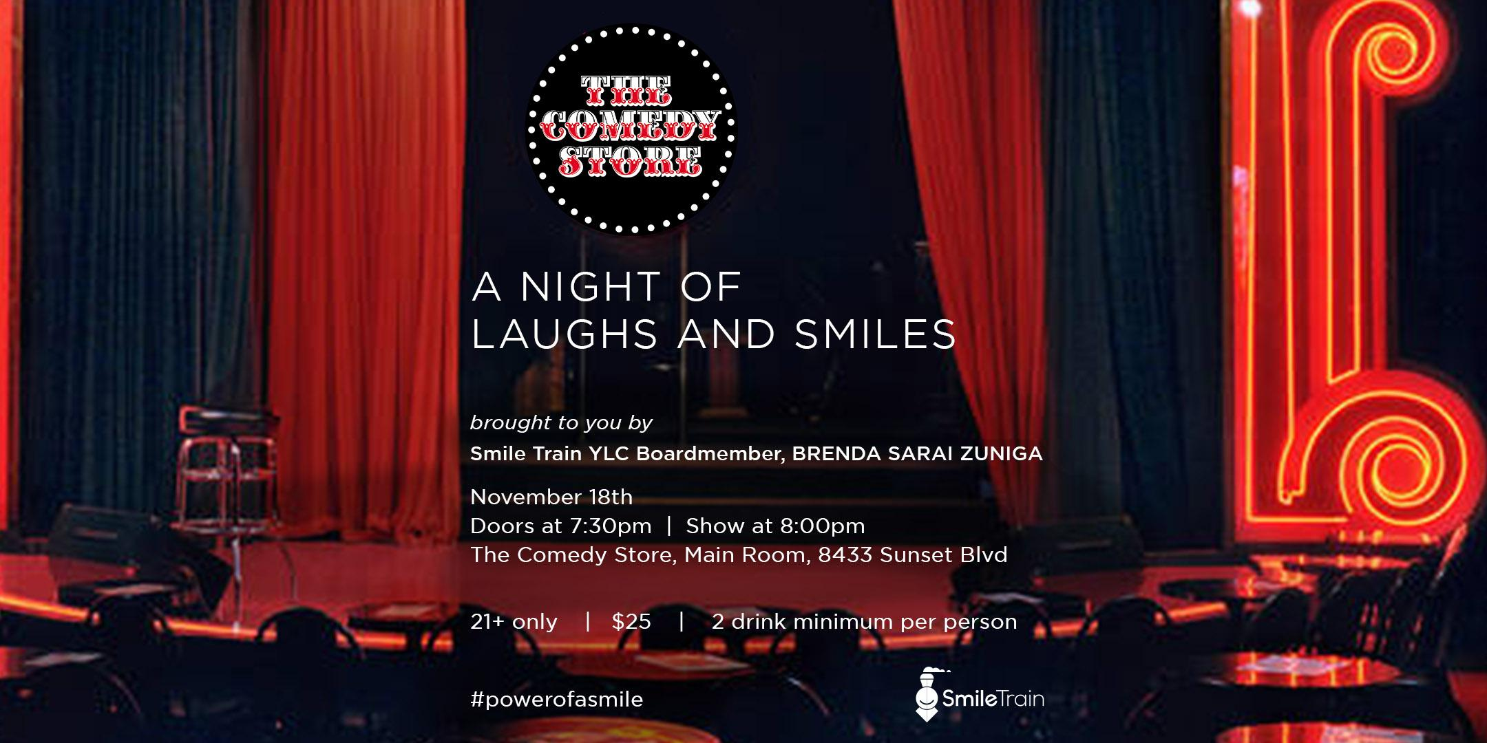 A Nights of Laughs and Smiles: A Comedy Fundraiser to Benefit Smile Train