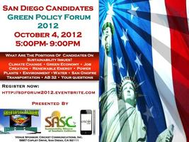 San Diego Candidates Green Policy Forum 2012