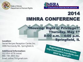 "2014 IMHRA Conference: ""Housing: A Right or a..."