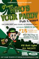 "9th Annual ""Who's Your Paddy"" Pub Crawl"