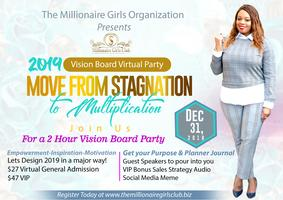 the millionaire girls club virtual vision board party tickets mon