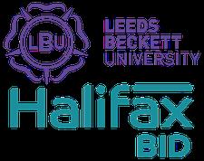 Leeds Beckett University & Halifax BID logo