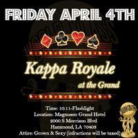 Kappa Royale at the Grand (Sponsored by Hammond Alumni)