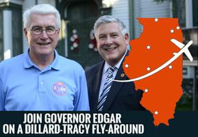 Dillard Tracy Nine City GOTV Tour With Governor Edgar