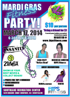 Mardi Gras Fitness Party!