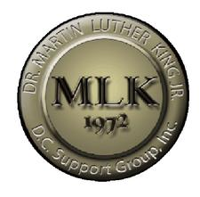 Beverly Harrison-Griggs, President Martin Luther King, Jr. D.C. Support Group, Inc. logo